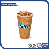 o plástico 16oz descartável congelou o copo bebendo do café