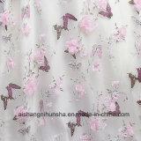 ピンクの花の蝶EvevingはV首の半分袖のイブニング・ドレスに服を着せる
