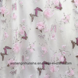 A borboleta Eveving das flores da cor-de-rosa veste vestidos de noite da Metade-Luva da V-Garganta