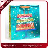 誕生日の運送ペーパーはこつの札が付いている袋のホログラムの印刷のギフト袋を運ぶ