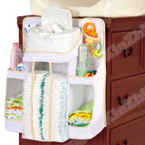 """ organizador del pañal del limpiador de la ducha del juguete del carrito del almacenaje del esencial del bebé 18X20"