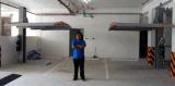 Levage hydraulique de stationnement de véhicule de deux niveaux de poste de système simple de stationnement