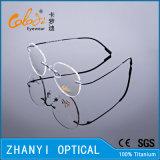 Het lichtgewicht Randloze Oogglas Eyewear van het Frame van de Glazen van het Titanium van de Manier semi-Randloze Optische met Scharnier (1509-EW)