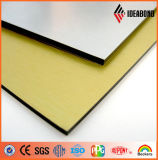 Rivestimento spazzolato dorato con il comitato composito di alluminio di prezzi competitivi (ACP)