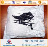 Fibra Smilar Forta Macrofiber ferro Macrofibre de la fibra de la torcedura de los PP del polipropileno