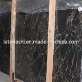 Natürliche Platten italienische schwarze Portoro Marmorfliese
