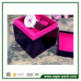 Solo rectángulo de reloj de madera púrpura personalizado