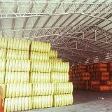Fibre discontinue de polyesters réutilisée de matière d'agrégation de palier avec l'élasticité élevée