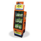 Cremalheira de exposição do papel do alimento dos desenhos animados do supermercado de 12 pilhas