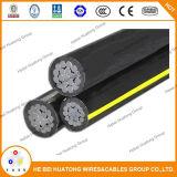 Serie de aluminio 8000 del alambre del tipo constructivo cable 600V 250kcmil de la UL de Xhhw-2