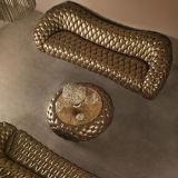 Sofà lussuoso del cuoio del salone di Corlor dell'oro (B6)
