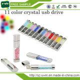 Wasserdichtes Geschenk USB-grelle Platte Kristall-USB-Blitz-Laufwerk