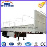 Reboque aprovado do caminhão da parede lateral dos eixos 33ton do ISO CCC 3 com frame da lona