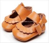 가죽 연약한 밑바닥 아기 신발 판매
