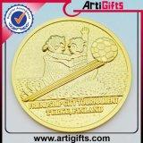 3Dデザイン金属の硬貨によってめっきされる黄銅