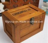 Rectángulo de joyería de madera de lujo hermoso modificado para requisitos particulares del shell del MDF