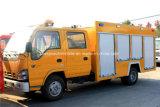 Isuzuの消防車クレーンが付いているトラック5000リットルの水消火活動タンク