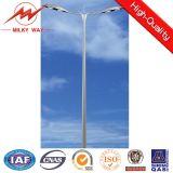 DIP chaud Galvanized 12m Street Light Polonais avec Double Arm