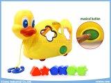 Musikalische Ente-Spielwaren mit Ausbildung blocken Spielwaren
