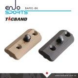 Adaptador táctico de Tacband Bipod para Keymod - con negro del espárrago de Bipod