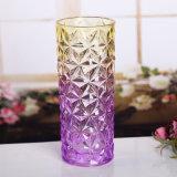 Florero de cristal coloreado de moda del cristal del florero