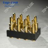 8 Pin Double Pogo Source-chargé par Row Pins avec Cap pour SMT Sucker