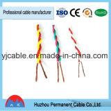 Fio torcido elétrico macio isolável de PVC, fio flexível Rvs