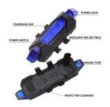 熱い販売USBの再充電可能な循環のバイクの点滅のテールライト