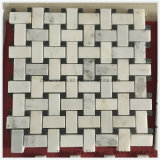 Mosaico de pedra de mármore chinês branco