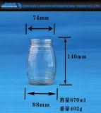 Essiggurke-Gemüsespeicher-Glas-Glas