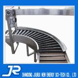 Trasportatore a rulli d'acciaio manuale con la guida laterale per la linea di produzione