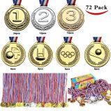 Medaglie di oro del giocattolo di Joyin per i favori di partito, ricompense dell'aula, premi del gioco (oro, argento, bronzo, gioco del calcio, pallacanestro, baseball e medaglie olimpiche del premio)