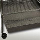 Cage de perroquet de cage d'animal familier de cage d'oiseau en métal de qualité grande