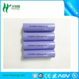 Alta capacidad 18650 2200 célula de batería recargable del Litio-Ion del mAh 3.7V