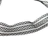Colar preta do Choker do laço de Elastica da jóia nova da forma do projeto
