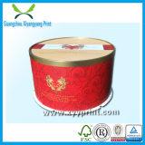 Caixa de bolo de papel de embalagem de luxo com estampagem de folha