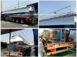 Cooking Oil Transport를 위한 30t Aliminum Tanker Trailer