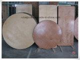 Fabricación redonda del vector de plegamiento del banquete de la madera contrachapada