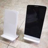 Accessoires acryliques blanc transparents de téléphone de stand de téléphone cellulaire