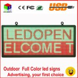 LED RGB Full Color Entra / Display 18''x40 '' / supporta lo scorrimento del testo sullo schermo a LED pubblicità immagine video programmabile a LED per esterni