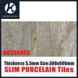Marmeren Ontwerp 300X600mm 400X800mm 500X1000mm 5.5mm de Ceramiektegels van de Tegel van de Muur van het Porselein van de Dunne laag van de Dikte