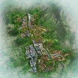 Progetto della rappresentazione di pianificazione di città della valle dello squalo