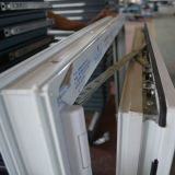 Finestra interna Kz237 di inclinazione e di girata di profilo bianco di colore UPVC