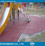 Allgemeiner Gebrauch-preiswertes Preis-Quadrat-Gummifußboden-Fliese, im Freien Gummifliese bunt