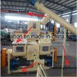 노동 Saving Automatic 1000kg/H Wood Sawdust Biomass Fuel Briquette Plant Line