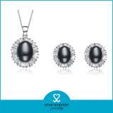 Прелестно благородный серебряный Jewellery установленный с нестандартной конструкцией (J-0143)