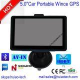 """5.0 populares novos do """" sistema de navegação do GPS do carro traço com 8GB flash, FM-Transmissor, Bluetooth, Avoirdupois-em"""