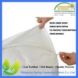 Protector ajustado respirable del colchón de la hoja impermeable
