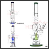 Hbking 8inch American Downstem de couleur Baker Base Perc Glass Smoking Water Pipe