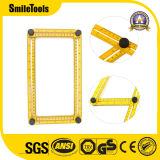 Grille de tabulation de pliage multifonctionnelle jaune de mesure se pliante de cornière d'échelle métrique en plastique